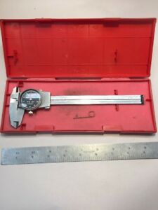 Brown Sharpe 599 579 5 Swiss Made 6 Dial Caliper W Red Case T118