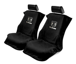 Pair 2 Black Seat Armour Cover Protectors For Dodge Ram Pickup Truck