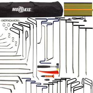 Pdr Puller Rods Repair Hail Paintless Tool Remove Dent Hammer Auto Led Board Kit