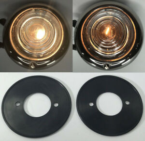 Pair Clear Glass Parking Light Assembly For Ford 1947 48 Cars 1942 47 Trucks