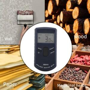 Md919 Digital Inductive Wood Moisture Meter Detector Paper Humidity Tester Hot