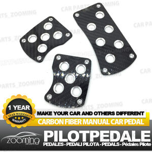 Carbon Fiber Black Mt Universal Racing Non slip Manual Car Pedals Pad