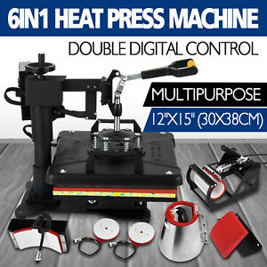 6in1 Digital T shirt Heat Press Machine Diy Printer Printing Cap Reliable Seller