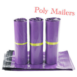 100 1000 Pcs 10x13 Self Seal Purple Poly Mailers Shipping Envelopes Plastic Bags