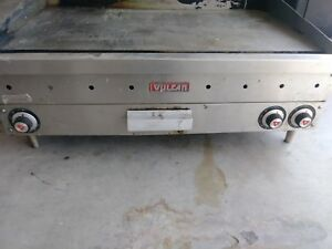 Used Vulcan Gas Griddle Stainless Steel Right Burner Doesn t Work