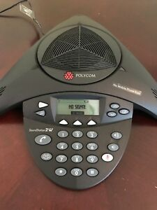 Polycom Soundstation 2w 1 9ghz 2201 67800 160 Conference Phone And Adaptor