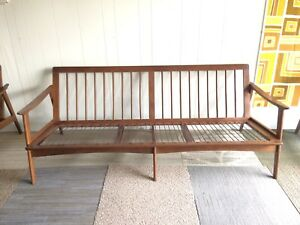 Mid Century Danish Modern Sofa Couch Stamped Made In Yugoslavia