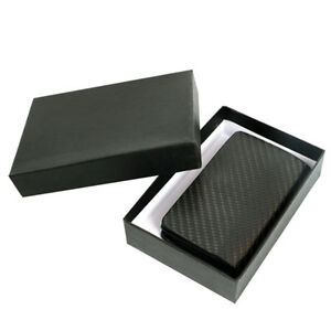 Men s Carbon Fiber Business Card Holder Bank Credit Id Cards Case Bag Wallet