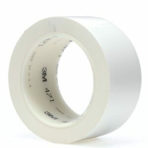 3m Vinyl Tape 471 White 2 Inch X 36 Yard 5 2 Mil Thick 1 roll