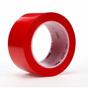 3m Vinyl Tape 471 Red 8 Inch X 36 Yard 5 2 Mil Thick 1 roll