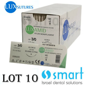 Dental Nonabsorbable Surgical Suture 3 0 Nylon Monofilament Luxamid Polyamid Ce
