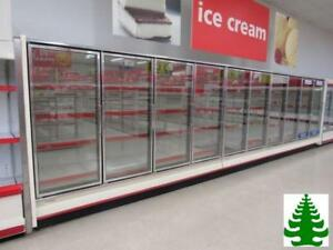 Hill Phoenix Glass 10 Door Cooler Merchandisers For Beer Dairy Sodas 2013 Led