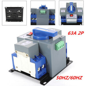 63a 2p 50hz 60hz Dual Power Automatic Transfer Switch Cb Level For Generator