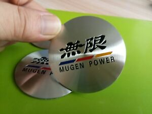 4pcs 56 5mm Mugen Power Aluminum Auto Car Wheel Center Hub Cap Emblems Stickers