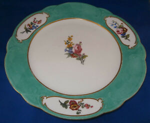 Antique 18thc Sevres Soft Paste Porcelain Floral Plate Porzellan Teller French