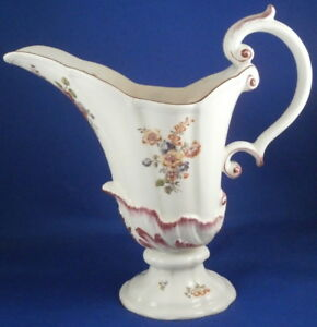 Antique 18thc Red Anchor Chelsea Porcelain Soft Paste Large Ewer Pitcher Jug