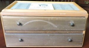 Vintage New Home 2 Drawer Store Sales Case For Sewing Needles