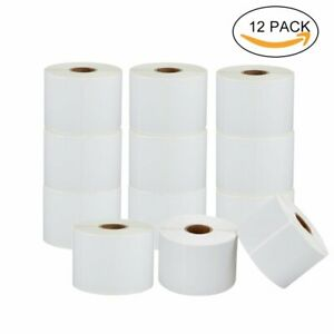 12 Roll 1 25x2 25 Direct Thermal Shipping Labels Compatible With Zebra Printer