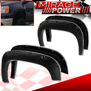 2007 2013 Gmc Sierra Set 4 Riveted Style Bolt On Fender Flares Wide Body Trim
