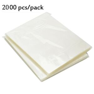 2000 Pack Clear Crystal 9 X 11 5 Thermal Laminating Pouches Letter Size 3 Mil