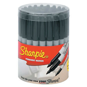 36 piece Sharpie Canisters Black 36 Per Canister