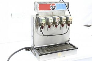 Vintage Soda Fountain Dispenser With 5 Flavors Pepsi Branded Carbonated