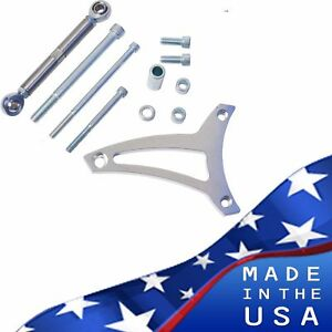 Small Block Ford Alternator Bracket 289 302 Billet Aluminum V belt Sbf Mid Mount