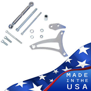 Small Block Ford Alternator Bracket 289 302 V belt Kit Mid Mount Sbf Billet
