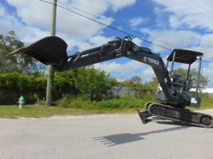 2014 Terex Tc 35 mini Excavator 7 700 Lbs 2 Speed W Blade Only 1 100 Hours