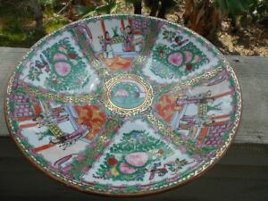 Chinese Rose Medallion Vintage Plate 14 3 8 Diameter Excellent