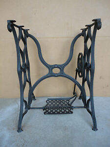 Early Cast Iron Fancy Treadle Sewing Machine Base Excellent Condition
