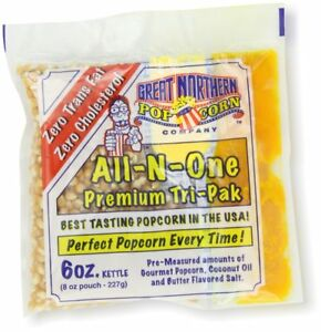 Great Northern Popcorn 24 Ct 6 Oz Pouches All In One Popcorn Oil Butter