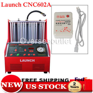 Launch Cnc602a Ultrasonic Fuel Injector Cleaner Tester 110v Transformer For Us