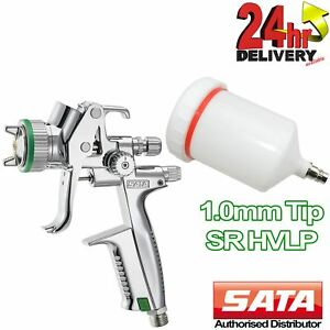 Sata Minijet 4400 Sr Spray Gun Hvlp 1 0 Mm Gravity Air Feed Professional Sprayer