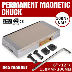 6 X 12 Fine Pole Magnetic Chuck Stainless Steel Large Suction Industrial