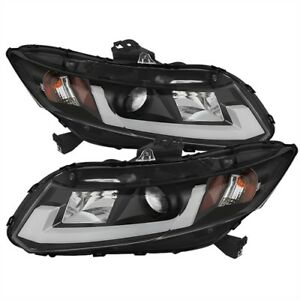 Spyder Auto 5076519 Drl Projector Headlights 2012 2014 Honda Civic H1 Low Beam B