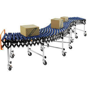 24 w Portable Flexible Expandable Conveyor Nylon Skate Wheels 6 2 To 24 8