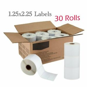 30 Rolls 2 25 x1 25 Direct Thermal Barcode Blank Labels For Zebra Lp2824