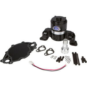 Black 351c Ford Electric Water Pump Small Block High Volume Flow Cleveland