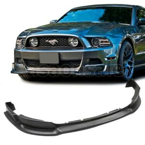 Made For 2013 2014 Ford Mustang V6 V8 Gt Rtr Front Pu Bumper Add On Lip