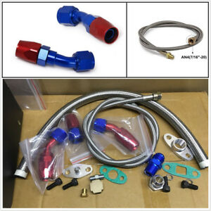 Oil Feed Line Return Drain Line Kit For Turbo Charger T3 T4 T3 t4 T70 T66 To4e