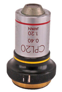 Olympus Tokyo Cpl20 0 40 1 20 20x Phase Contrast Microscope Objective Lens