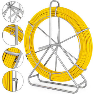 8mm 150m Fish Tape Fiberglass Wire Cable Running Rod Duct Rodder Fishtape Puller