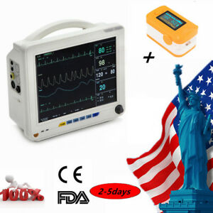 Big 12 1 Medical Vital Signs Patient Monitor 6 parameter Nibp Ecg oximeter Usps