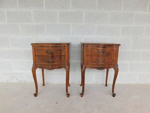 John Stuart French Louis Xv Style Walnut Nightstands A Pair
