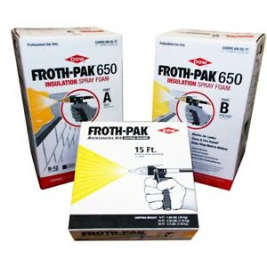 Dow Froth Pak 650 Class A Spray Foam Insulation Kits Bundle 4 Sets