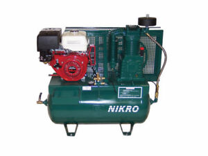 Nikro 860756 13 H p Honda 2 Stage Truck Mount Gasoline Air Compressor