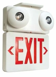 National Brand Alternative 617064 Combination Exit Sign And Emergency Light