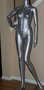 Pick Up Only Female Headless Siver Mannequin