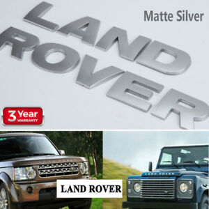 New Land Rover Silver 3m Letters Hood Or Trunk Tailgate Emblem Badge Nameplate